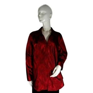 Coldwater Creek Blouse Red Size 2X (SKU 000196-4)